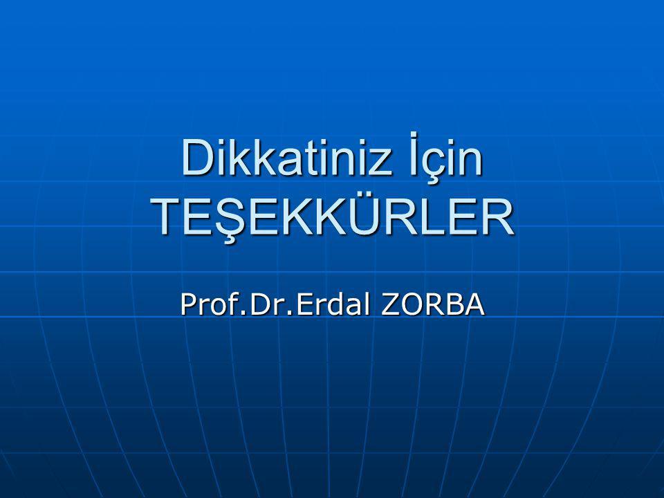 Dikkatiniz İçin TEŞEKKÜRLER Prof.Dr.Erdal ZORBA
