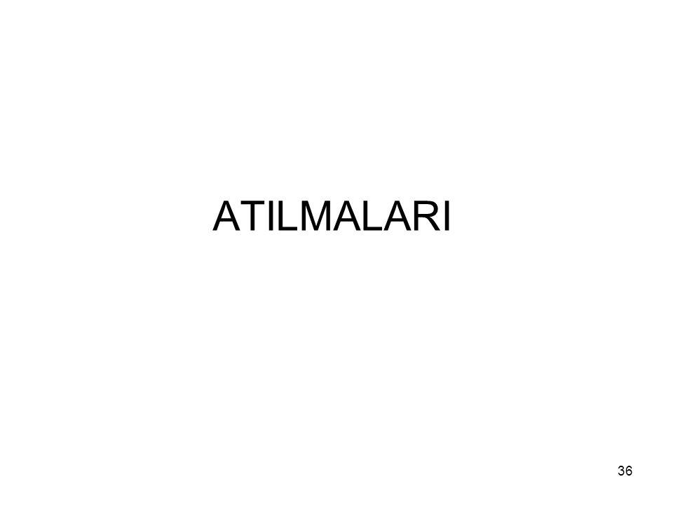ATILMALARI 36