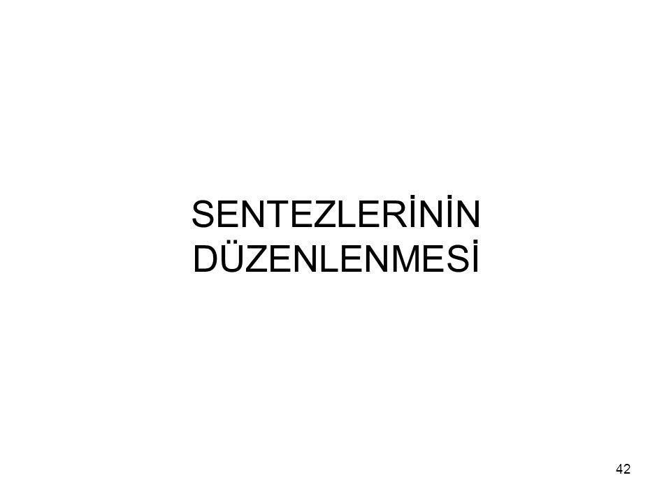 SENTEZLERİNİN DÜZENLENMESİ 42