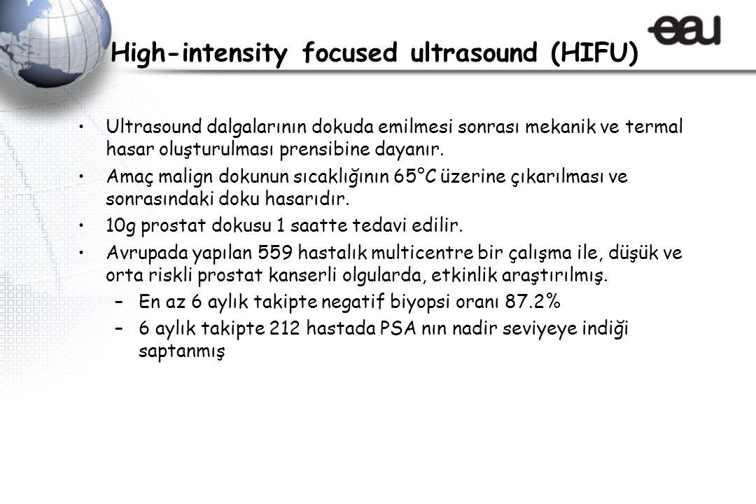 High-intensity focused ultrasound (HIFU) Ultrasound dalgalarının dokuda emilmesi sonrası mekanik ve termal hasar oluşturulması prensibine dayanır.