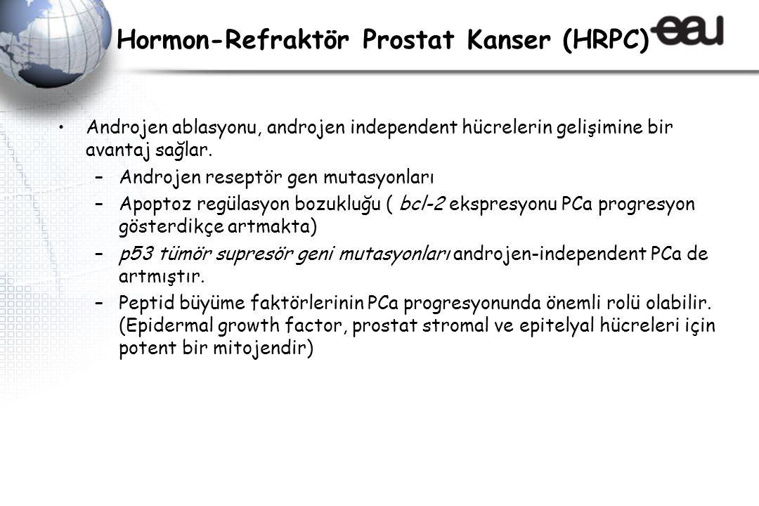 Hormon-Refraktör Prostat Kanser (HRPC) Androjen ablasyonu, androjen independent hücrelerin gelişimine bir avantaj sağlar.