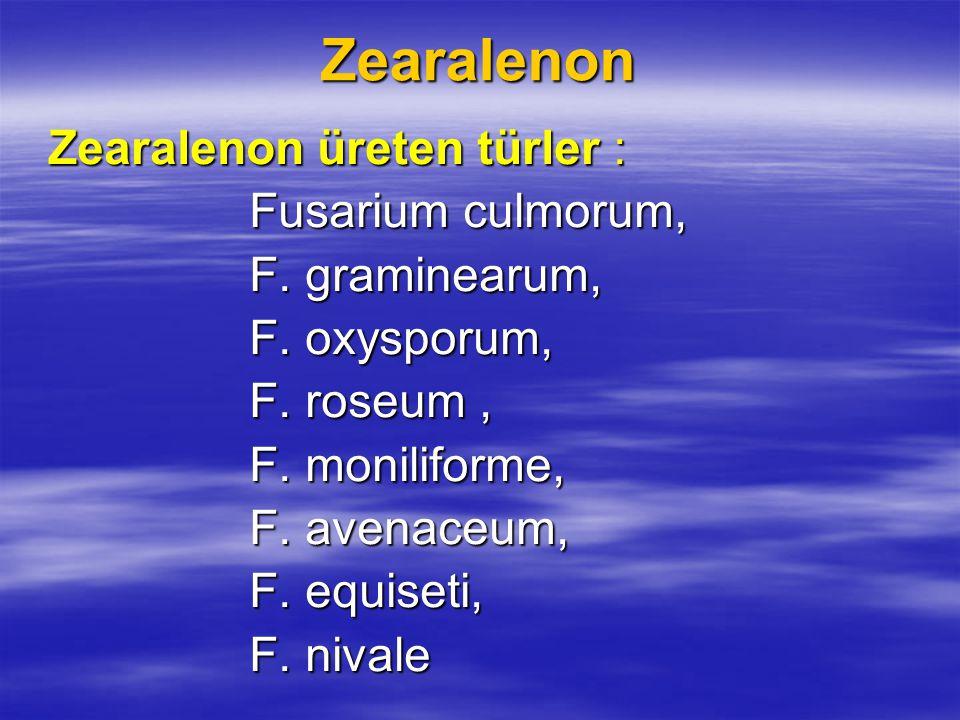 Tanımı ve yapısı : Zearalenon, çeşitli Fusarium türleri tarafından üretilen metabolik bir toksindir.