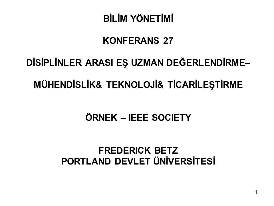 32 BİLİM & MÜHENDİSLİK & TEKNOLOJİ & TİCARİLEŞTİRME (1)Bilim & Teknoloji Araştırmaları – Teori & Darboğazlar.