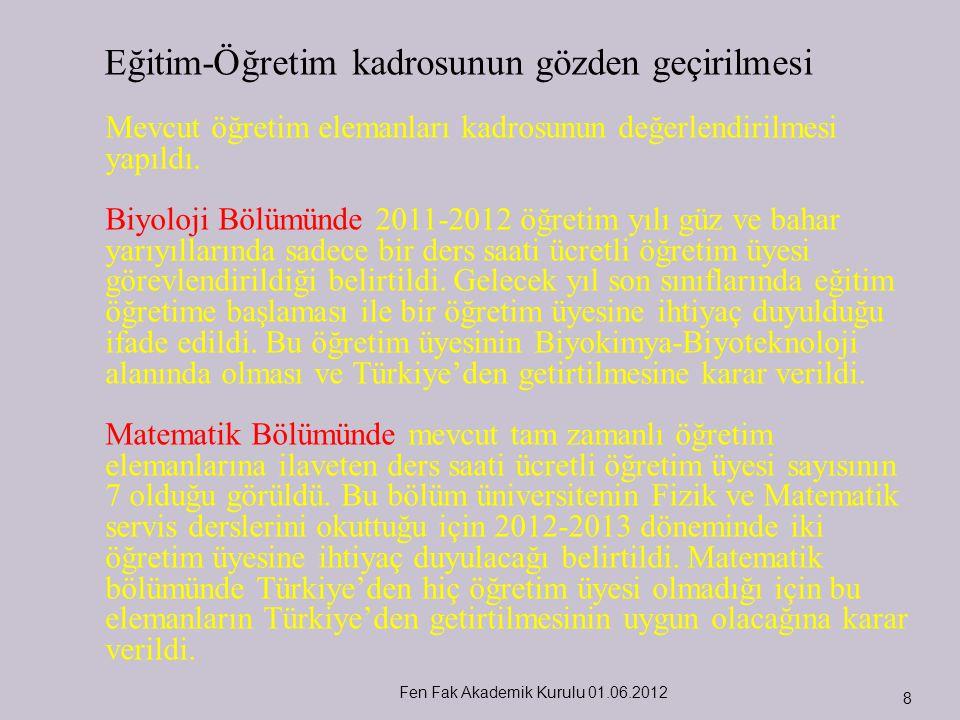 Fen Fak Akademik Kurulu 01.06.2012 29