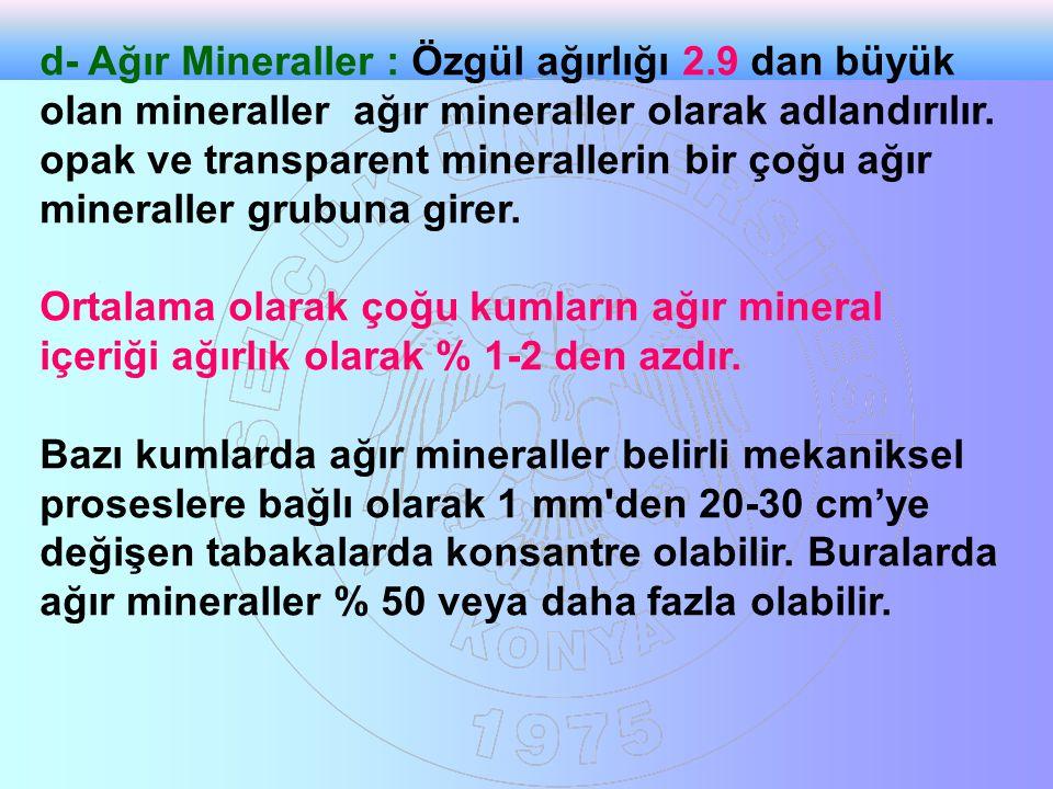 Ağır mineraller toplulukları bir sediment ve sedimenter kayacın provensini belirlemede önemli olabilirler.Bazı ağır mineraller belirli bir ana kayacı tanımlamada önemlidir.