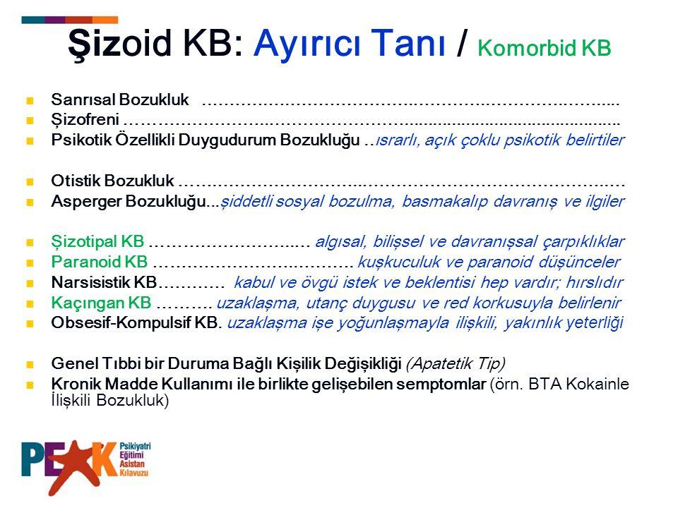 Şizotipal KB için DSM-IV-TR tanı ölçütleri A.