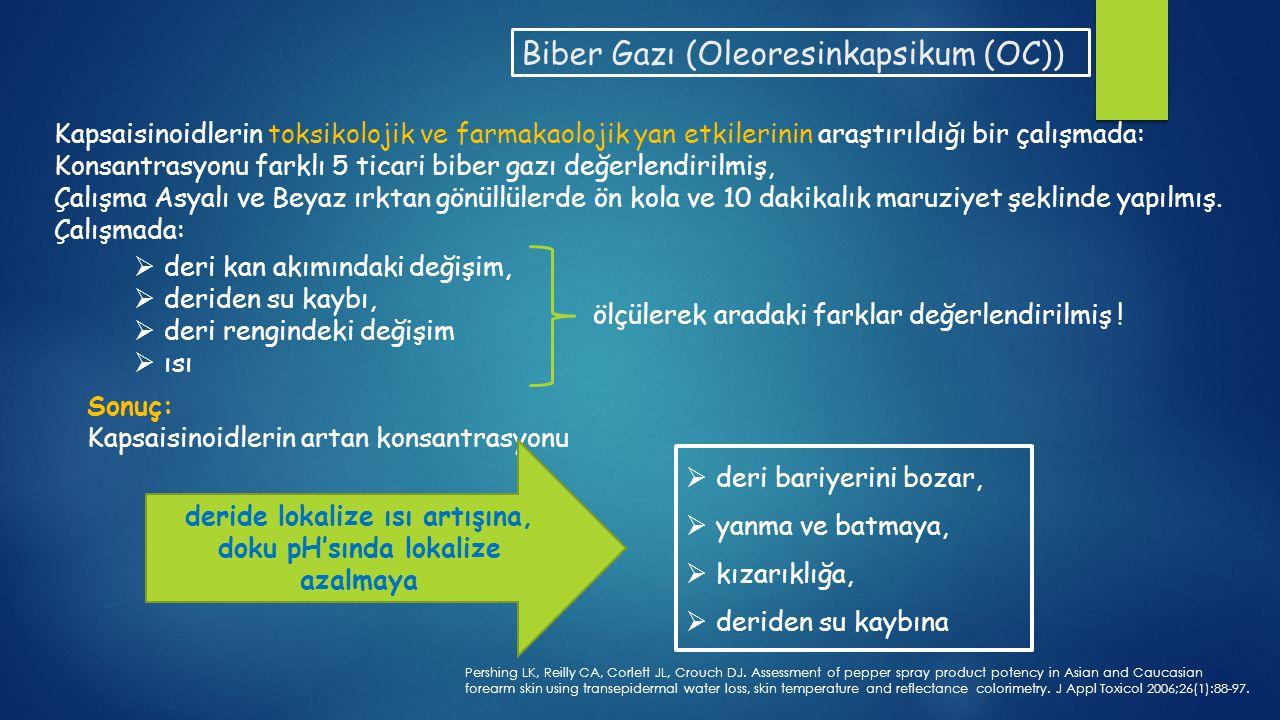 Biber gazı kargaşa kontrol aracı olarak gaz bombası veya sprey olarak uygulanmaktadır.