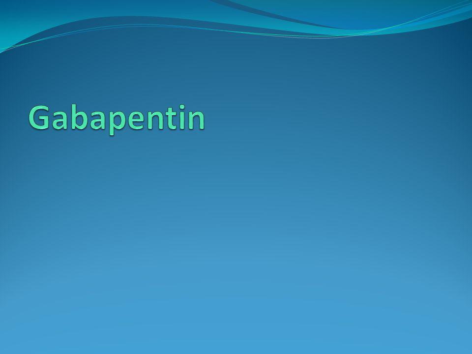 Gabapentin Antikonvülzan olarak kullanılmaya başlanmış zamanla diğer kullanım antikonvülzan kullanımının önüne geçmiştir.