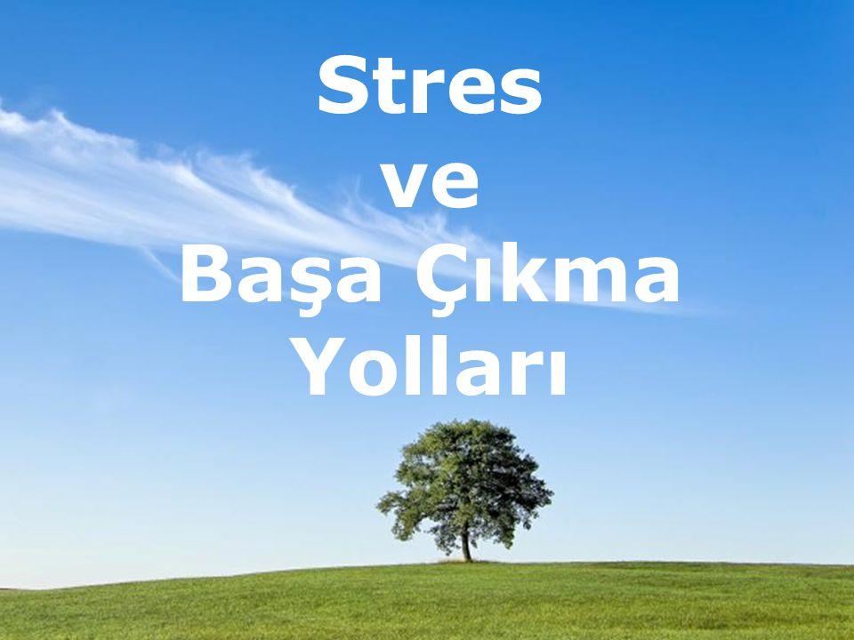 Page 1 Stres ve Başa Çıkma Yolları