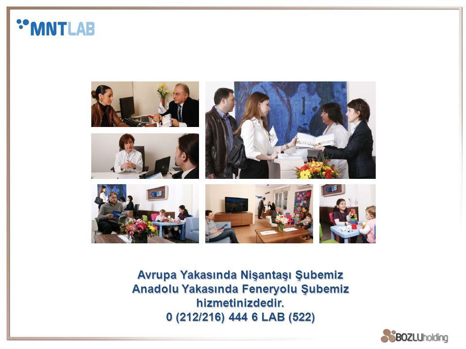 Avrupa Yakasında Nişantaşı Şubemiz Anadolu Yakasında Feneryolu Şubemiz hizmetinizdedir. 0 (212/216) 444 6 LAB (522)