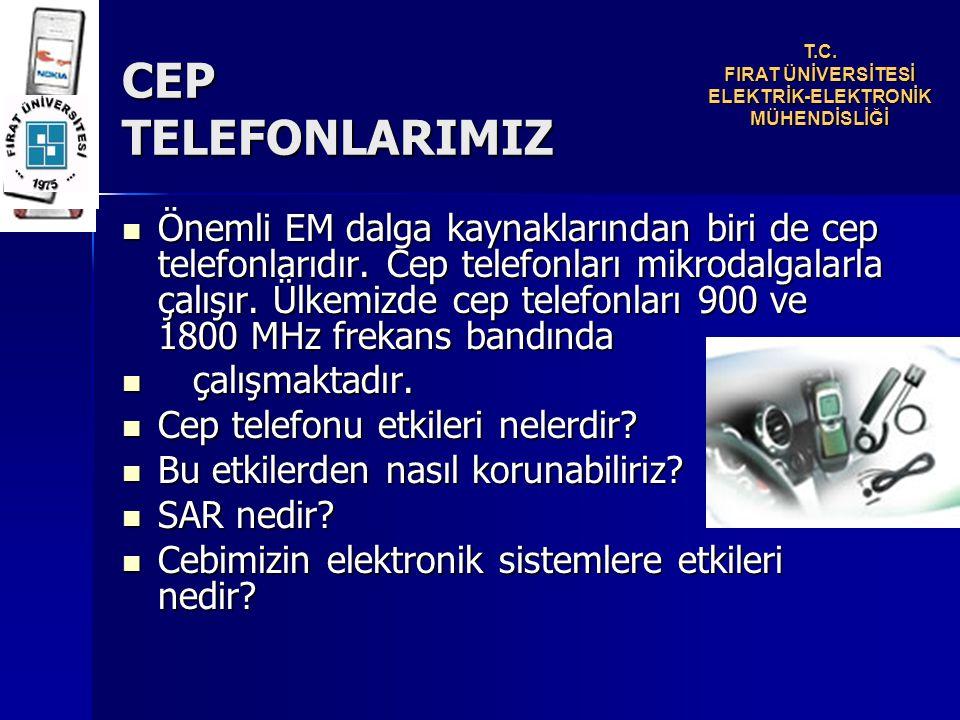 Önemli EM dalga kaynaklarından biri de cep telefonlarıdır.