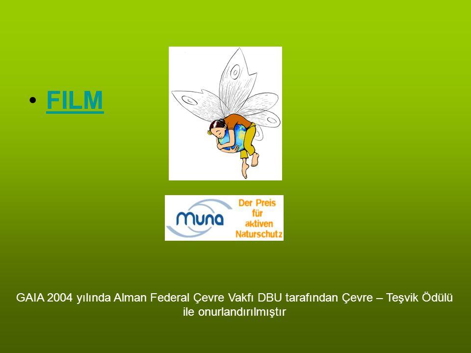 FILM GAIA 2004 yılında Alman Federal Çevre Vakfı DBU tarafından Çevre – Teşvik Ödülü ile onurlandırılmıştır