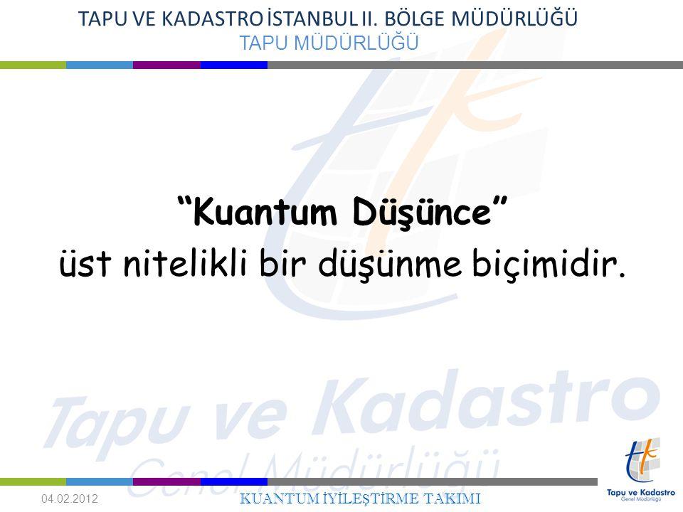 3 TAPU VE KADASTRO İSTANBUL II.