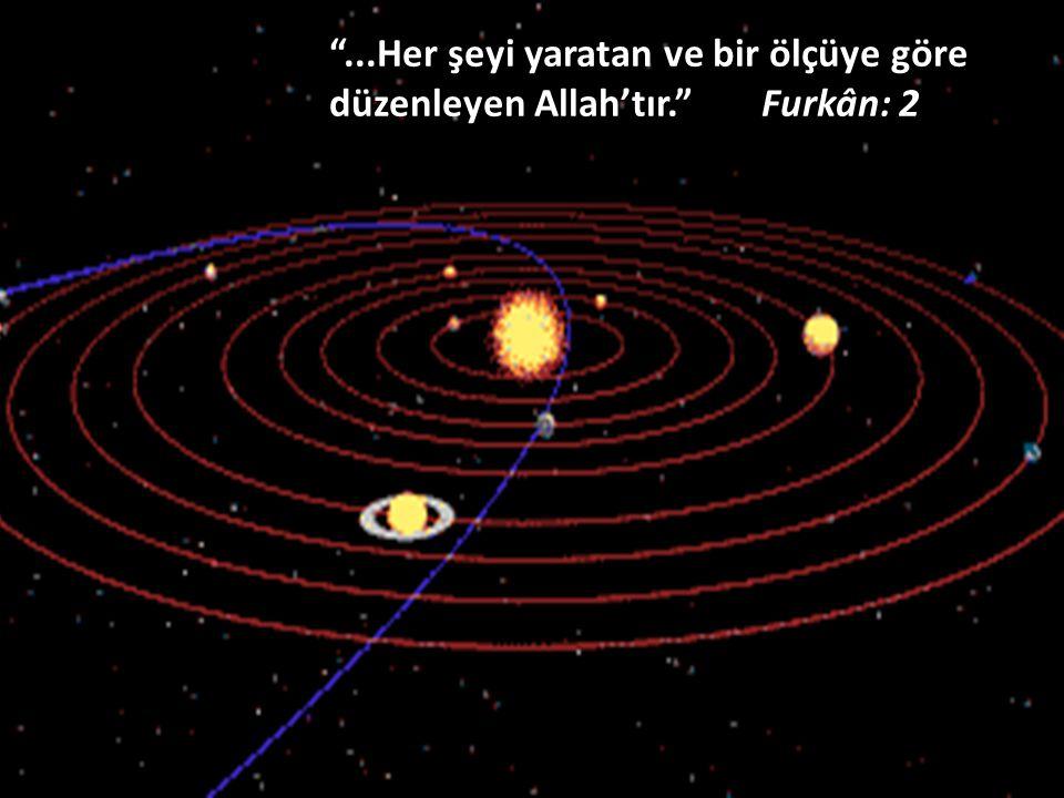 """""""...Her şeyi yaratan ve bir ölçüye göre düzenleyen Allah'tır."""" Furkân: 2"""