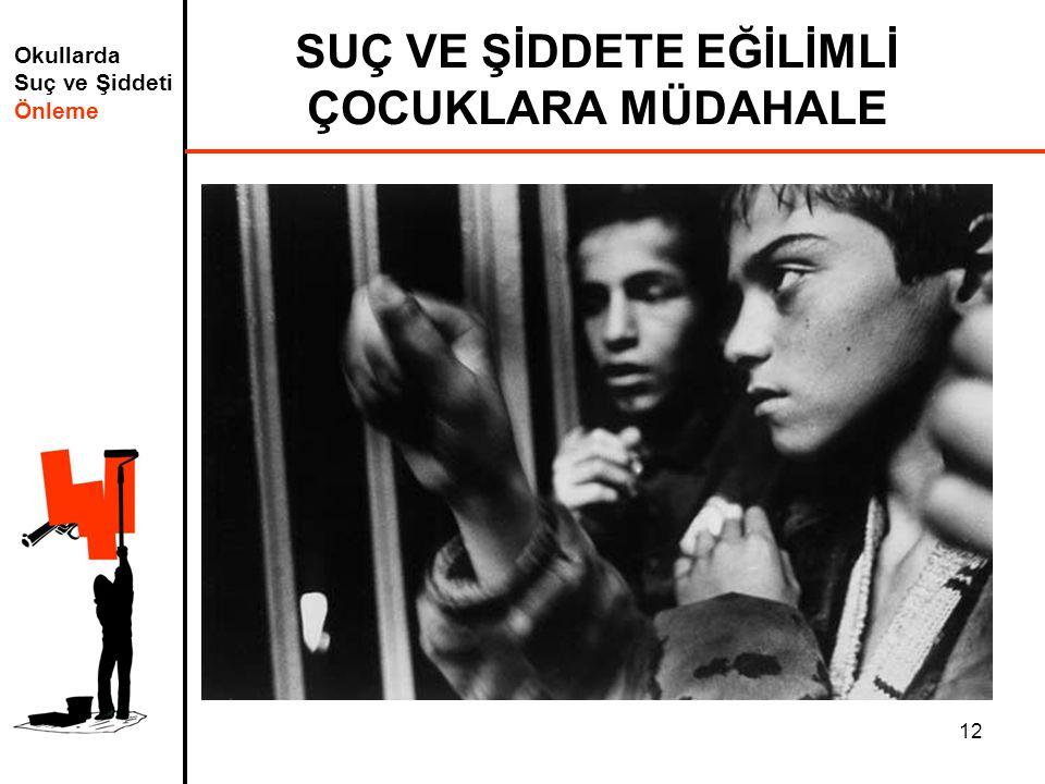 Okullarda Suç ve Şiddeti Önleme 12 SUÇ VE ŞİDDETE EĞİLİMLİ ÇOCUKLARA MÜDAHALE