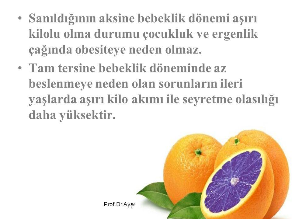 Prof.Dr.Ayşe Avcı 20 Ocak 2007 Adana Bebeğin gıdaya dokunmasına ve parmaklarıyla yemesine izin vermeli.
