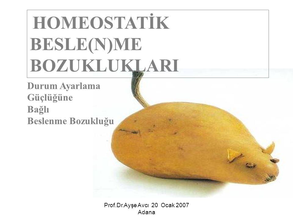Prof.Dr.Ayşe Avcı 20 Ocak 2007 Adana İlk birkaç ayda başlar.