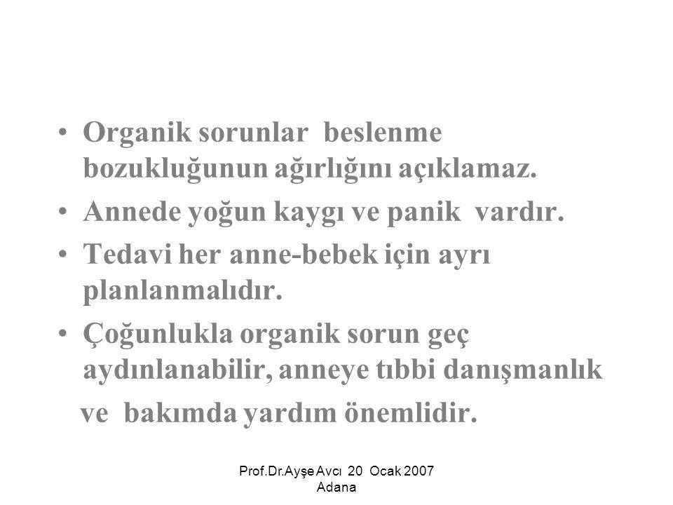 Prof.Dr.Ayşe Avcı 20 Ocak 2007 Adana BAĞLANMA (ATTACHMENT) BESLE(N)ME SORUNLARI Bakım veren-Bebek Uyum Güçlüğüne Bağlı Beslenme Bozukluğu,