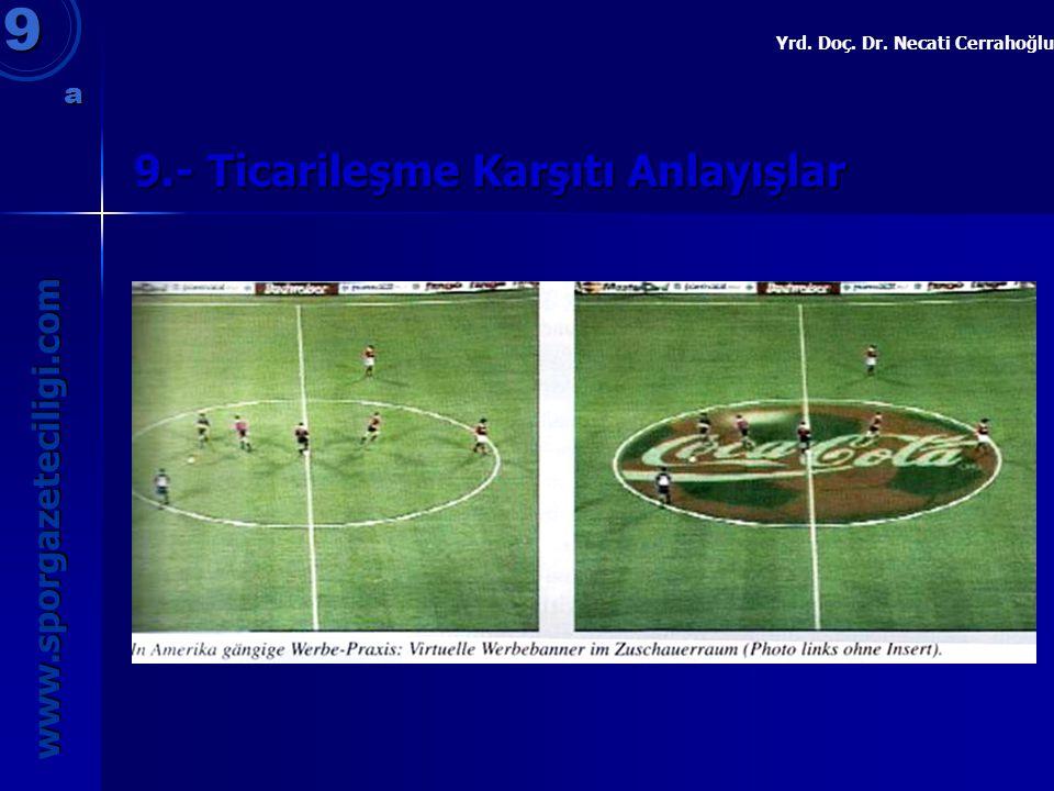 9.- Ticarileşme Karşıtı Anlayışlar 9 www.sporgazeteciligi.com Yrd. Doç. Dr. Necati Cerrahoğlu a
