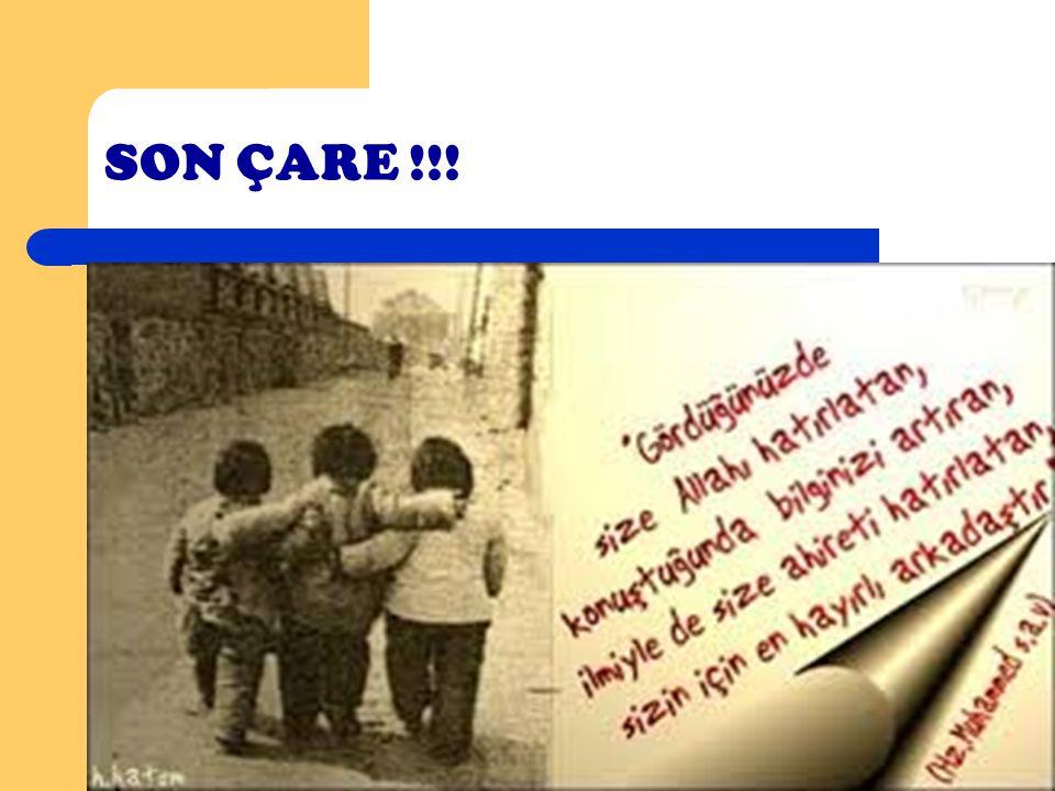 SON ÇARE !!! Akran baskısı ile karşılaşıldığında ve baş etme yöntemleri yetersiz kaldığında mutlaka; Öğretmenler, Öğretmenler, Rehberlik Servisi, Rehb