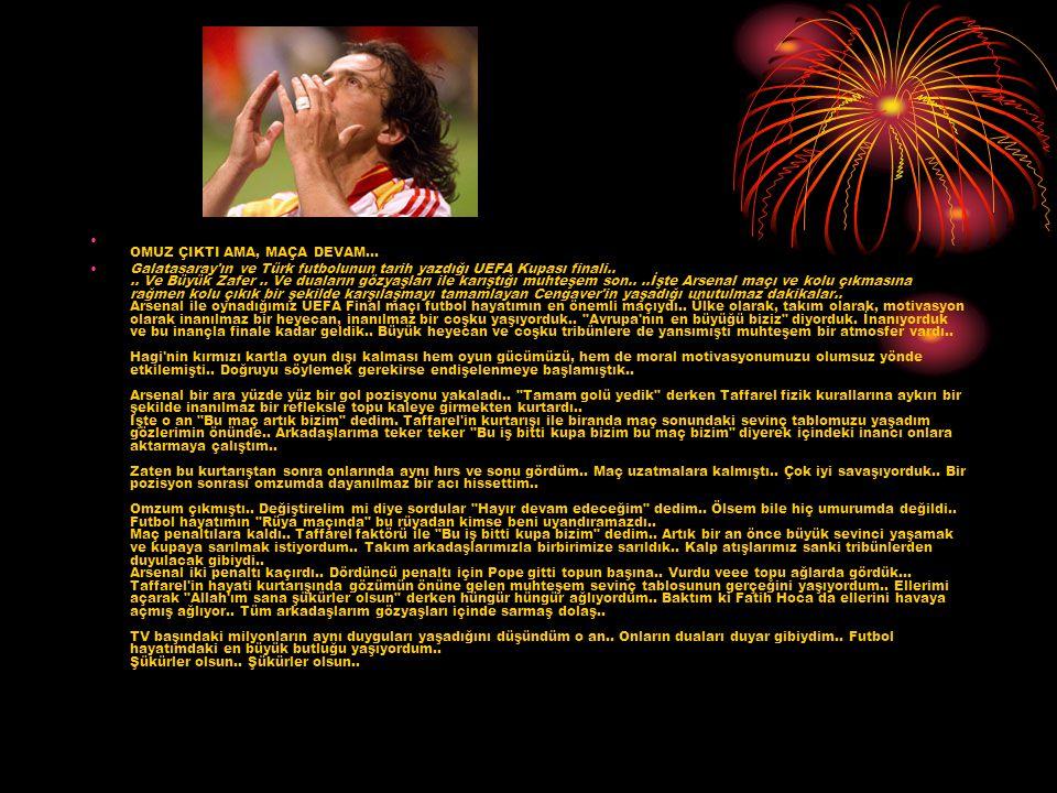 OMUZ ÇIKTI AMA, MAÇA DEVAM... Galatasaray'ın ve Türk futbolunun tarih yazdığı UEFA Kupası finali.... Ve Büyük Zafer.. Ve duaların gözyaşları ile karış
