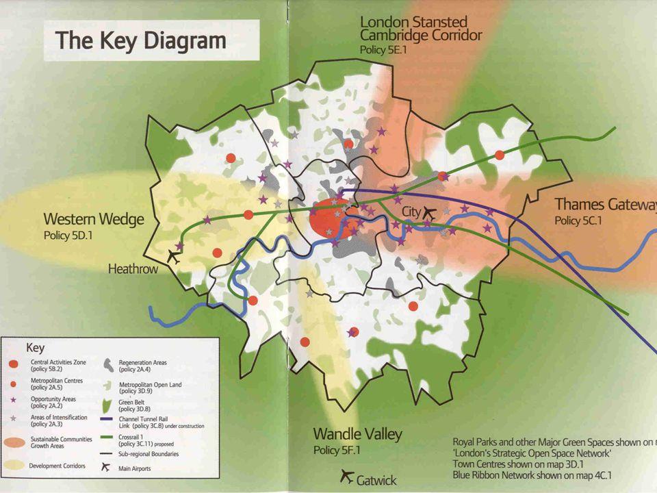  Londra'nın yeşil alanlara zarar vermeden büyümesini sağlamak,  Londra'yı insanlar için daha yaşanır kılmak,  Londra'yı ekonomisi güçlü bir kent ha