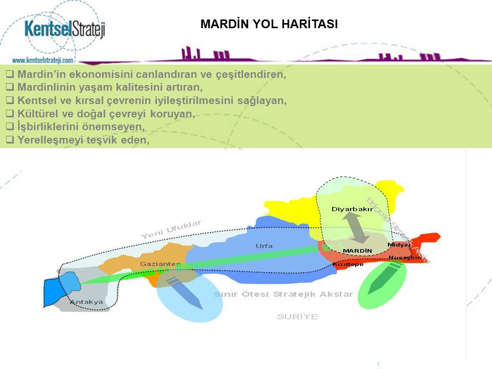  Mardin'in ekonomisini canlandıran ve çeşitlendiren,  Mardinlinin yaşam kalitesini artıran,  Kentsel ve kırsal çevrenin iyileştirilmesini sağlayan,