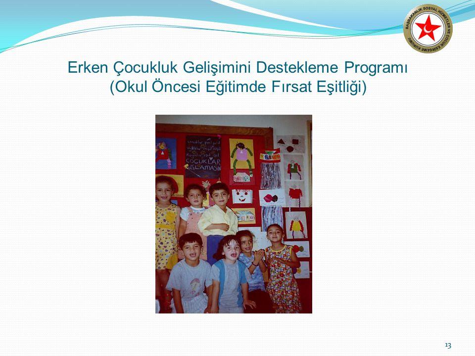 13 Erken Çocukluk Gelişimini Destekleme Programı (Okul Öncesi Eğitimde Fırsat Eşitliği) 13