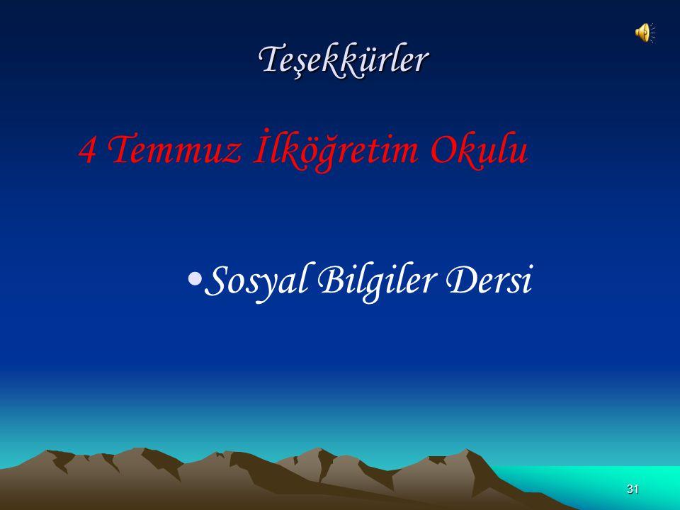 30 Türkiye'nin Özel Konumu ve Sonuçları Yeraltı kaynakları bakımından zengindir. Yer şekilleri çok engebelidir. Bu nedenle kısa mesafelerde iklim deği
