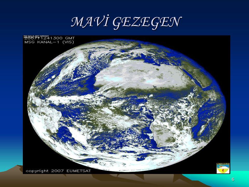 16 Ekvator: Kutup Noktalarından Eşit uzaklıktaki noktaların birleştirilmesiyle elde edilen, dünyayı iki eşit yarım küreye ayıran hayali çembere denir.