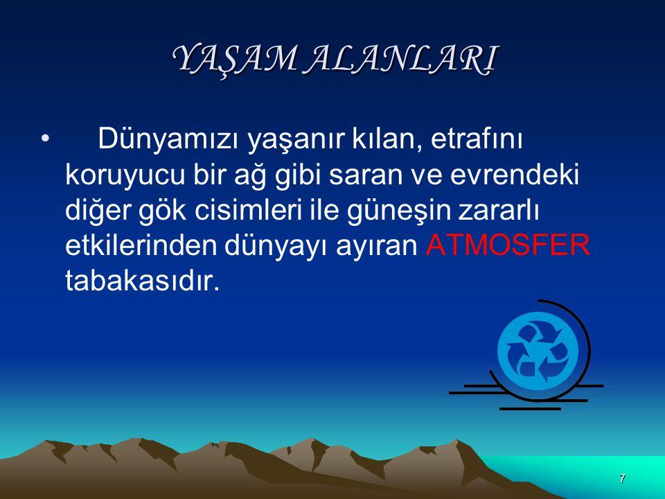 27 Türkiye nin Matematik Konumu ve Sonuçları Kuzeyden, güneye gidildikçe sıcaklık artar.