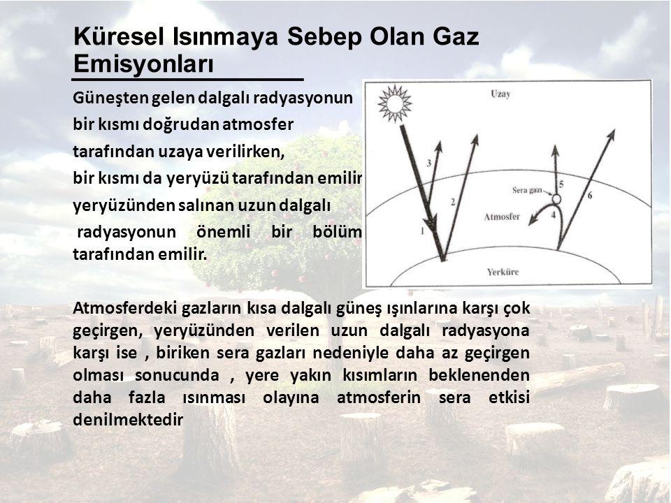 Güneşten gelen dalgalı radyasyonun bir kısmı doğrudan atmosfer tarafından uzaya verilirken, bir kısmı da yeryüzü tarafından emilir. Isınan yeryüzünden