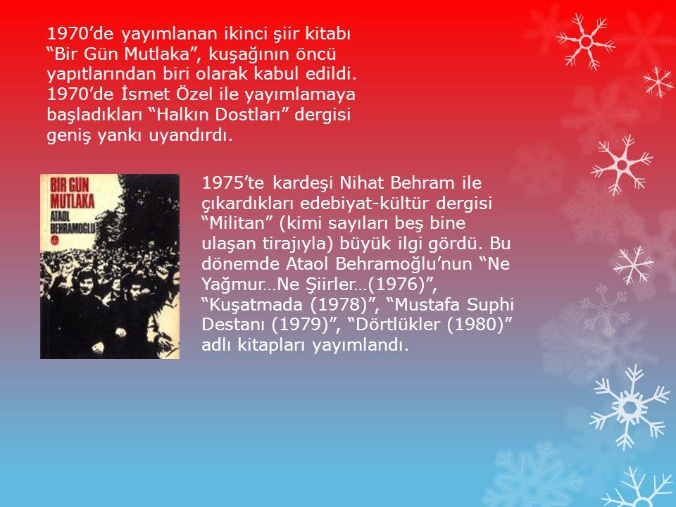 İyi Bir Yurttaş Aranıyor başlığı altında topladığı şiirler Türkiye'de siyasal kabare türünün ilk örneklerinden biri olarak birçok kez izleyiciye sunuldu (1981).