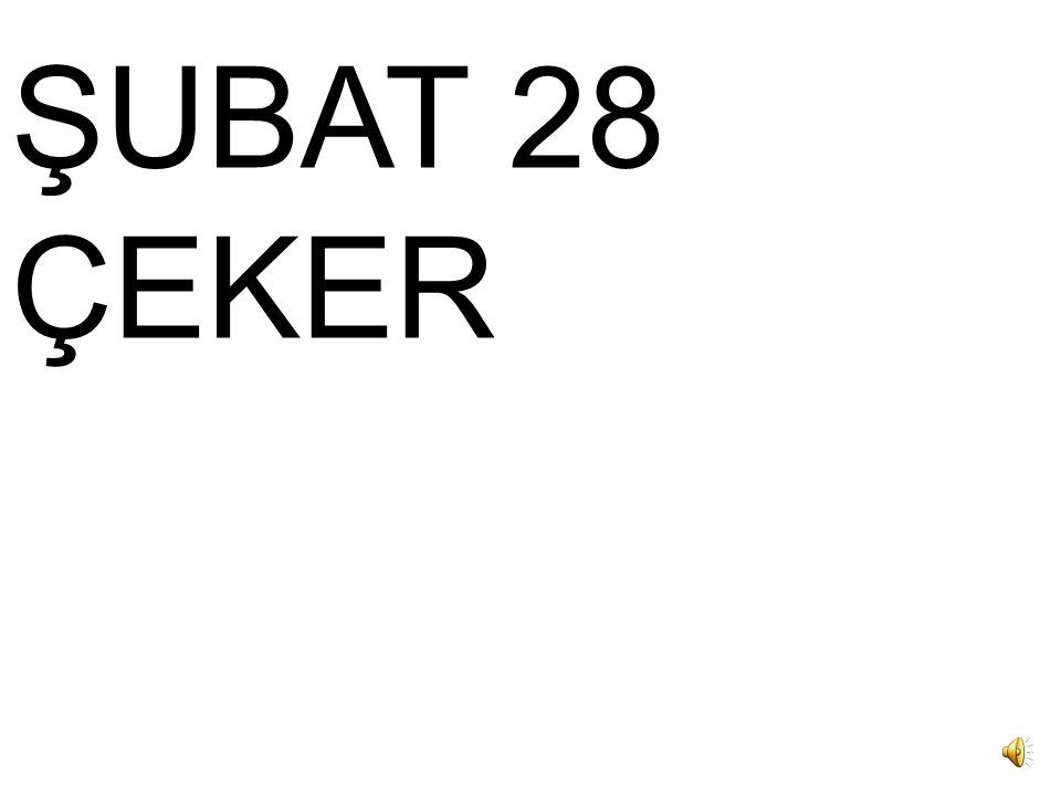 OCAK 31 ÇEKER