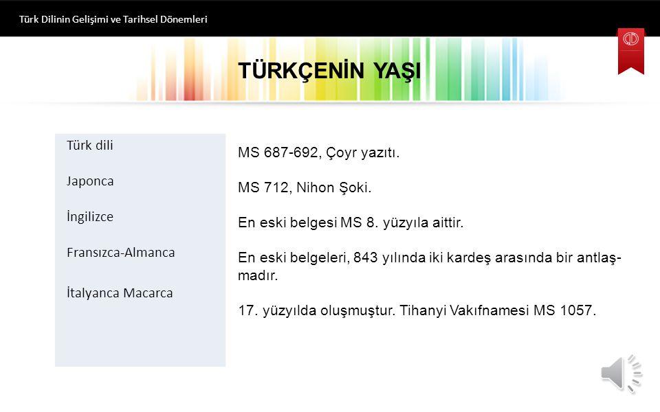 Eski Oğuz Türkçesi (15.yy. sonlarına kadar) Osmanlı Türkçesi (20.yy.