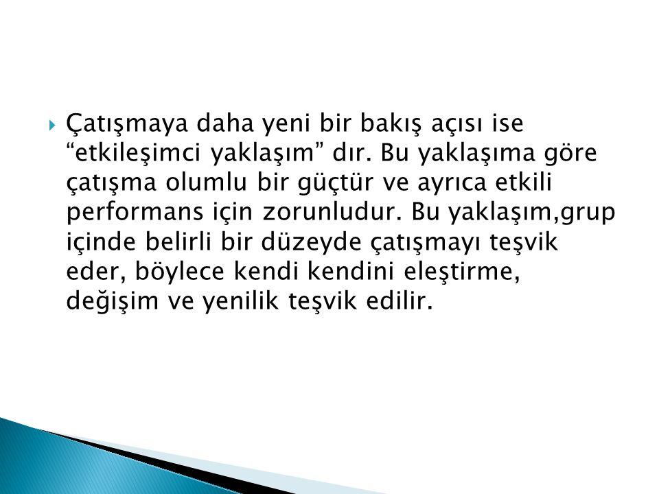 KAYNAKÇA  Önder Barlı, Davranış Bilimleri ve Örgütlerde Davranış, Aktif Yayınevi, Erzurum, 2012  Hasan Tutar- Cumhur Erdönmez, İşletme Becerileri ve Grup Çalışması, Detay Yayıncılık,Ankara, 2008