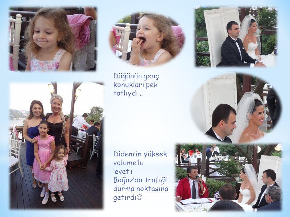 Düğünün genç konukları pek tatlıydı… Didem'in yüksek volume'lu 'evet'i Boğaz'da trafiği durma noktasına getirdi