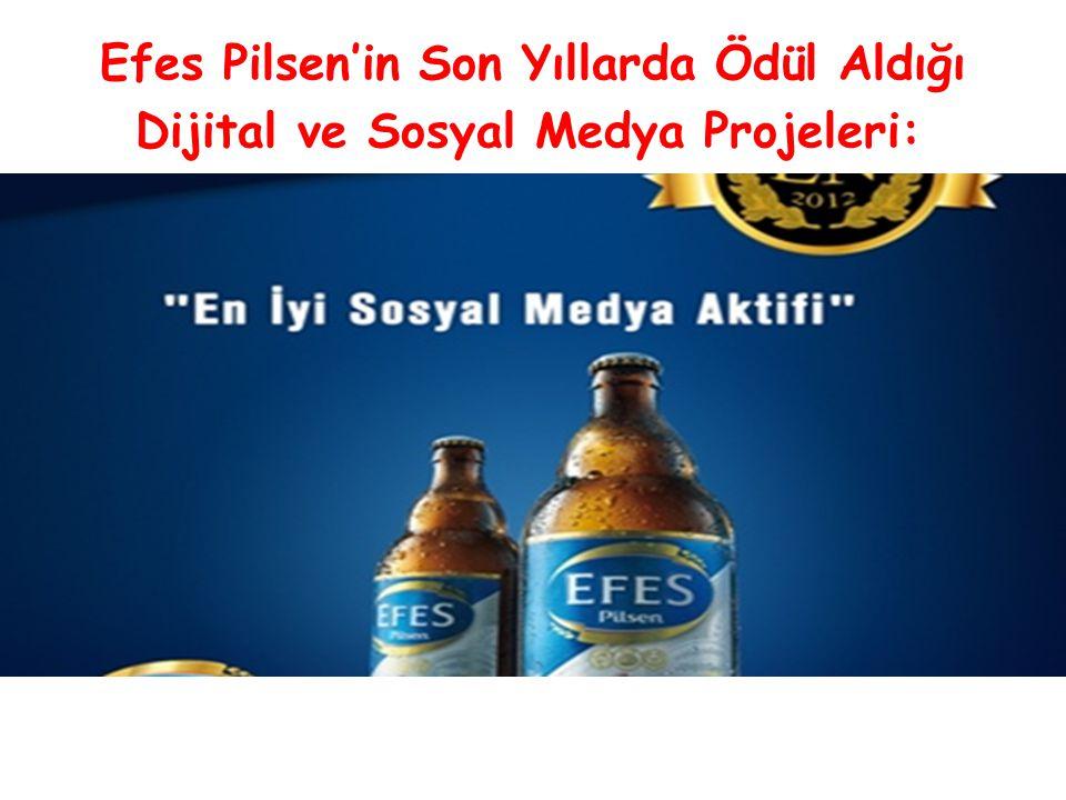 Efes Pilsen'in Son Yıllarda Ödül Aldığı Dijital ve Sosyal Medya Projeleri: