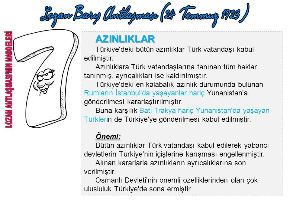 İSTANBUL'UN BOŞALTILMASI Lozan Antlaşması TBMM Hükümeti tarafından onaylandıktan altı hafta sonra işgal kuvvetleri İstanbul'u boşaltacaktır. 6 Ekim 19