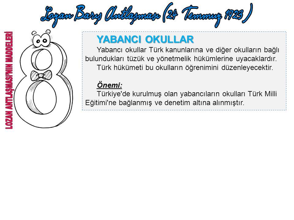 AZINLIKLAR Türkiye'deki bütün azınlıklar Türk vatandaşı kabul edilmiştir. Azınlıklara Türk vatandaşlarına tanınan tüm haklar tanınmış, ayrıcalıkları i