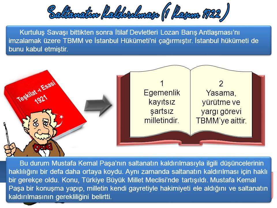 Efendiler, bu vaziyet karşısında bir tek karar vardır. O da milli hakimiyete dayanan kayıtsız şartsız bağımsız yeni bir Türk Devleti kurmak. Peki, TBM