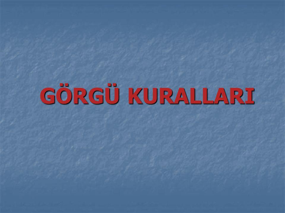 TÜRKLERDEKİ GÖRGÜ KURALLARI Türkler, Müslüman olmadan önceki hayatlarında görgüye çok önem vermişlerdir.