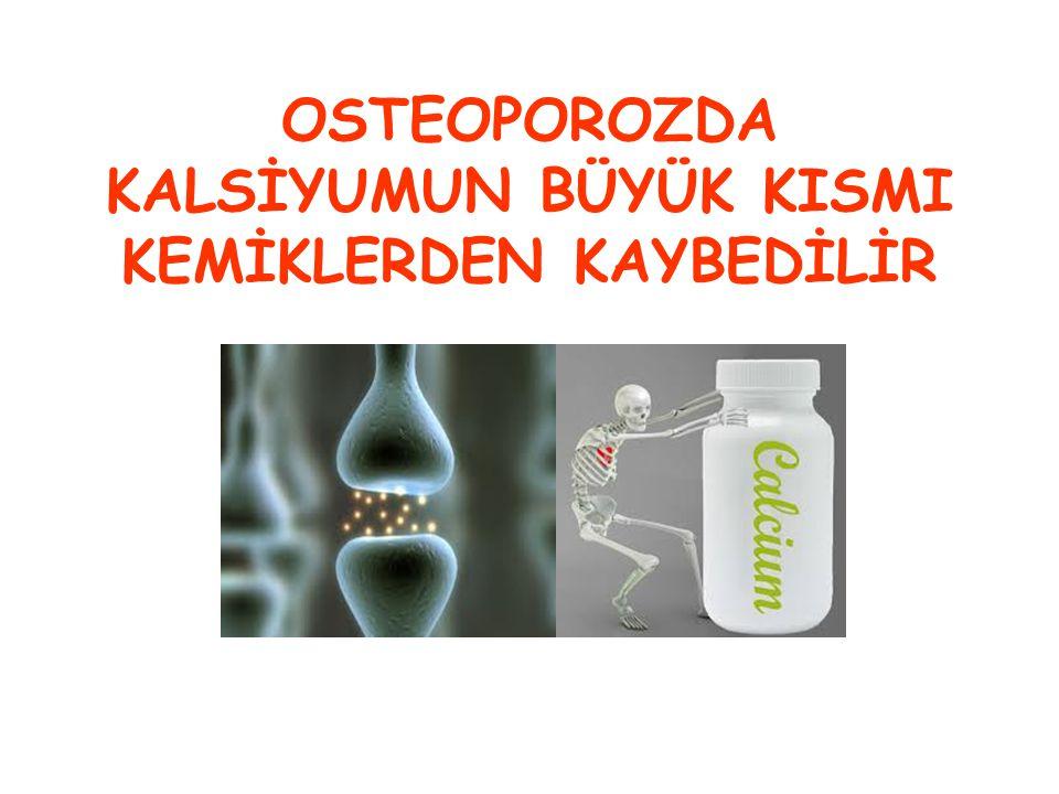 OSTEOPOROZDA KEMİKLER ZAYIFLAR, İNCELİR, YOĞUNLUĞUNU KAYBEDER