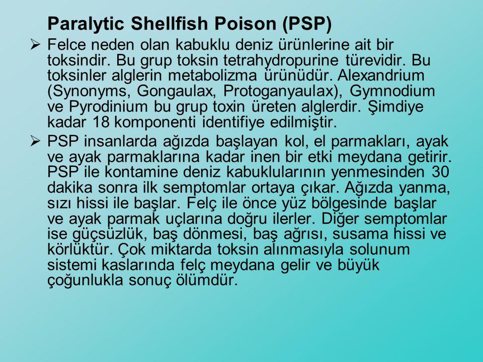 Paralytic Shellfish Poison (PSP)  Felce neden olan kabuklu deniz ürünlerine ait bir toksindir. Bu grup toksin tetrahydropurine türevidir. Bu toksinle
