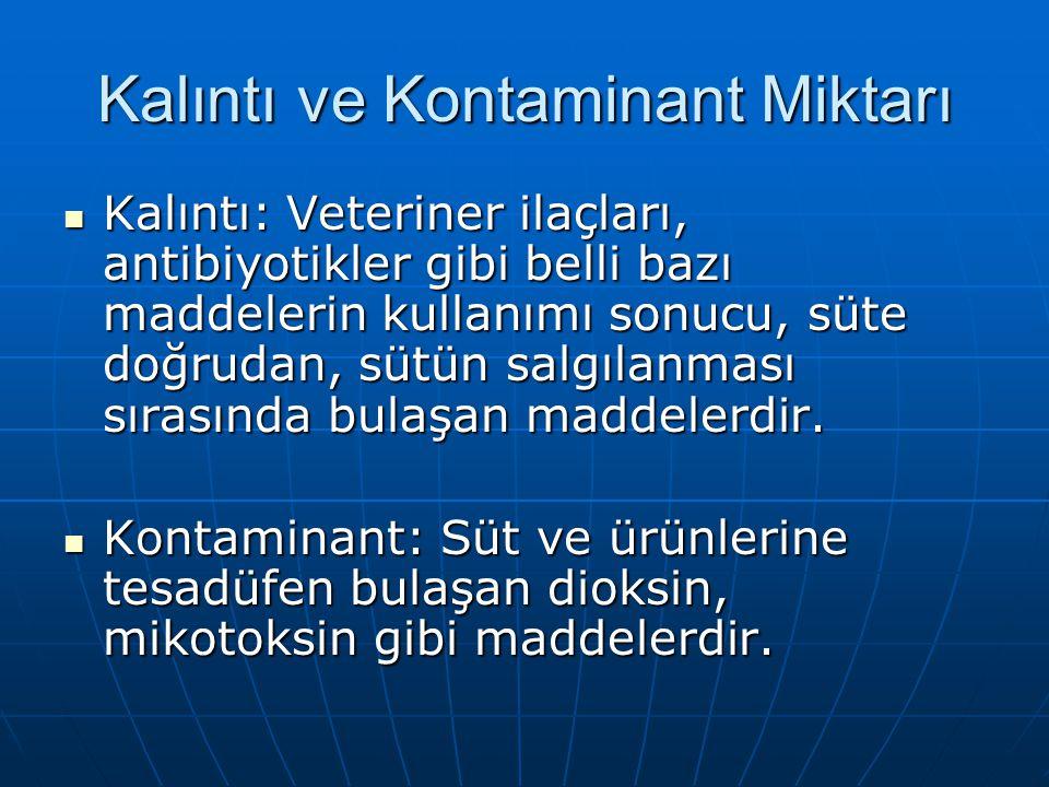 2.Direkt kontaminasyon: Süt ürünlerinin kontaminasyonudur.