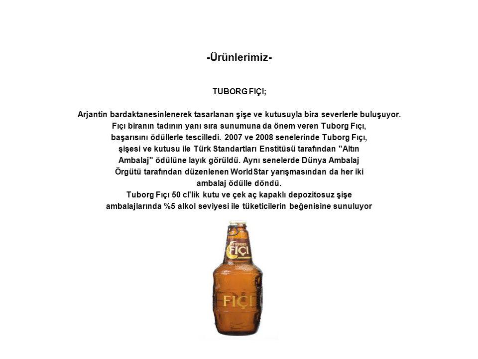 -Ürünlerimiz- TUBORG FIÇI; Arjantin bardaktanesinlenerek tasarlanan şişe ve kutusuyla bira severlerle buluşuyor. Fıçı biranın tadının yanı sıra sunumu