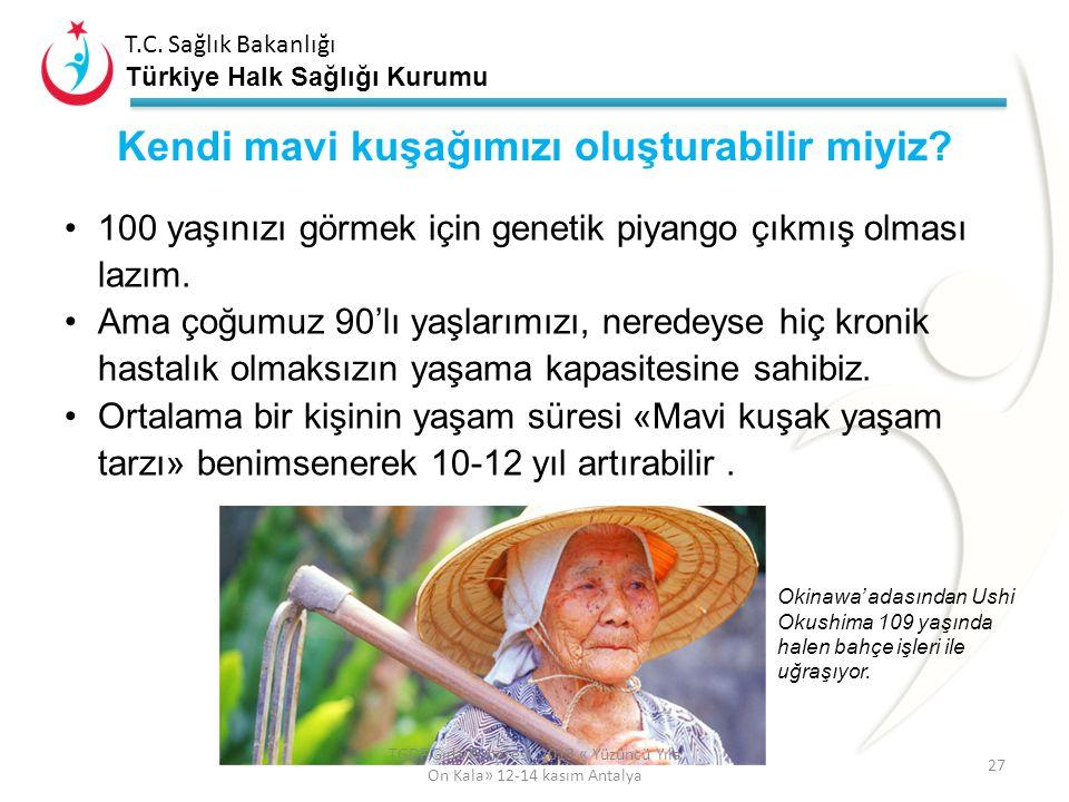 T.C. Sağlık Bakanlığı Türkiye Halk Sağlığı Kurumu «Blue Zones ® Areas» Dünyada diğerlerinden daha uzun yaşayan ve nasıl daha mutlu olunacağını bilen (