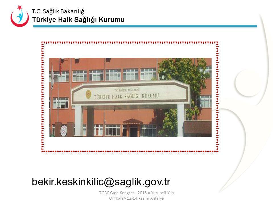 T.C. Sağlık Bakanlığı Türkiye Halk Sağlığı Kurumu ÜNİVERSİTELER KAMU KURUM VE KURULUŞLARI SİVİL TOPLUM ÖRGÜTLERİ ÖZEL SEKTÖR SAĞLIK BAKANLIĞI TÜRKİYE