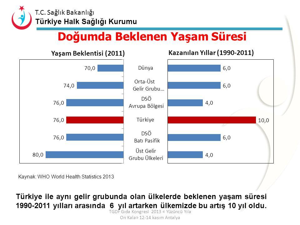 T.C. Sağlık Bakanlığı Türkiye Halk Sağlığı Kurumu Nüfus Yapımız Değişiyor TGDF Gıda Kongresi 2013 « Yüzüncü Yıla On Kala» 12-14 kasım Antalya