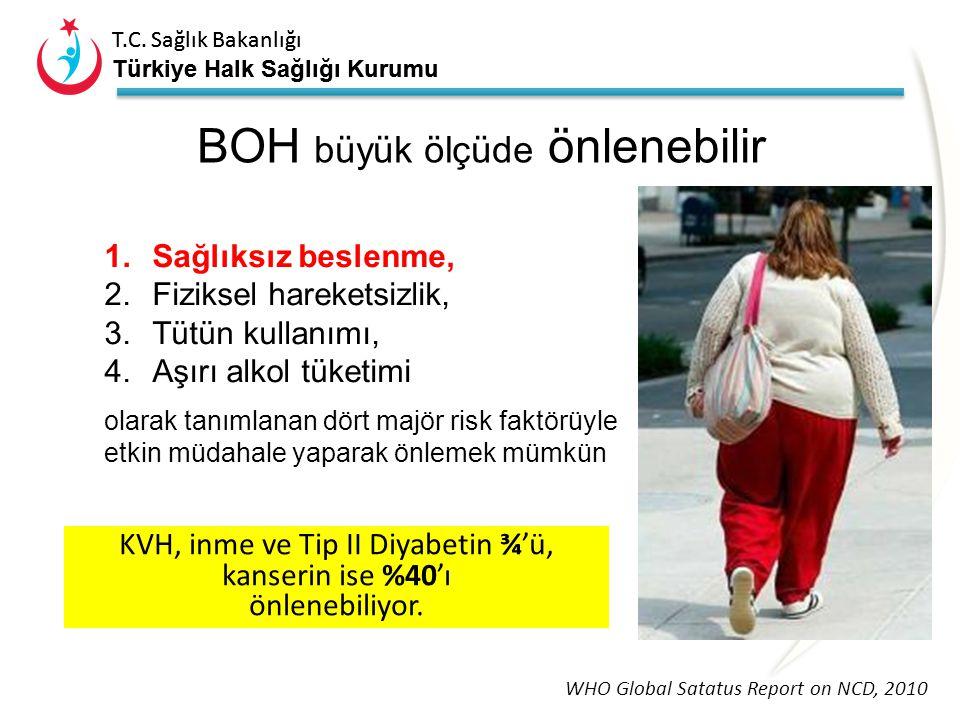 T.C. Sağlık Bakanlığı Türkiye Halk Sağlığı Kurumu Bulaşıcı Olmayan / Kronik Hastalıklar Küresel bir salgın Uzun sürer, genel olarak yavaş ilerler Dört